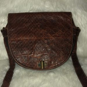 VINTAGE Furla brown leather Crossbody